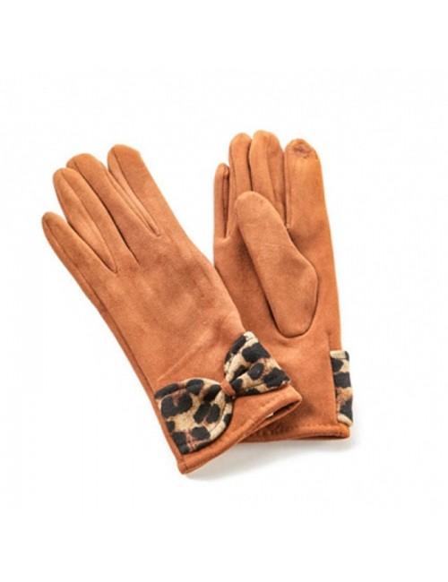 Γυναικεία γάντια verde 02-0000554 Καφέ