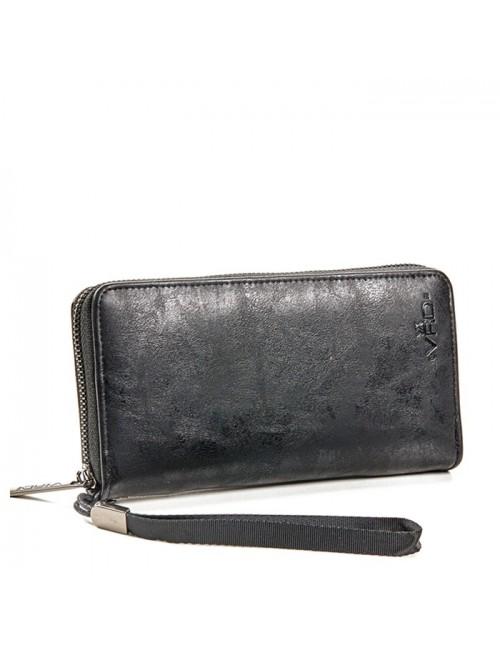 Γυναικείο πορτοφόλι VERDE 18-1097 Δερμάτινο Μαύρο