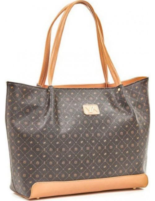 Τσάντα γυναικεία ώμου Verde 16-5936-brown