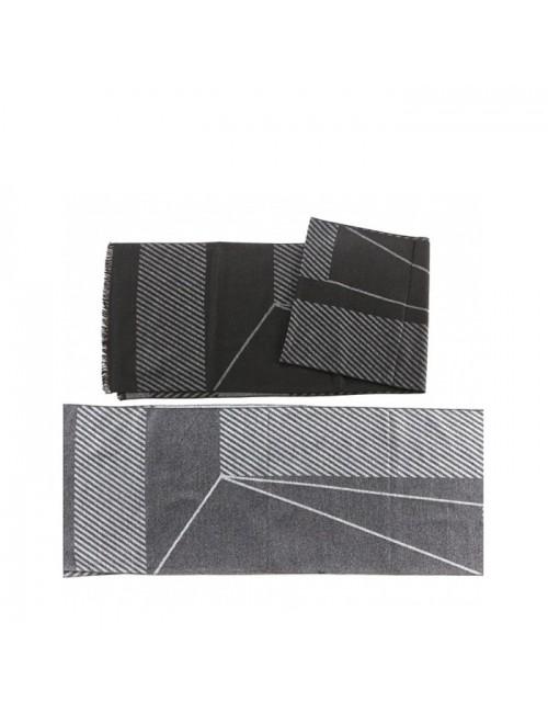 Ανδρικό κασκόλ VERDE 06-0000788 μαύρο
