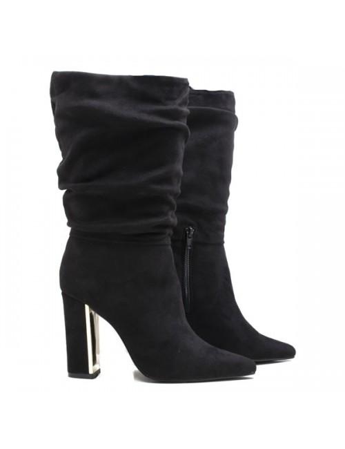 Γυναικεία μπότα EXE H27009305004 Καστόρι Μαύρη Ελληνική