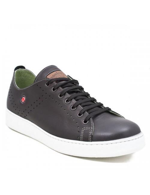 Ανδρικό sneakers δερμάτινο Robinson 1573 μαύρο