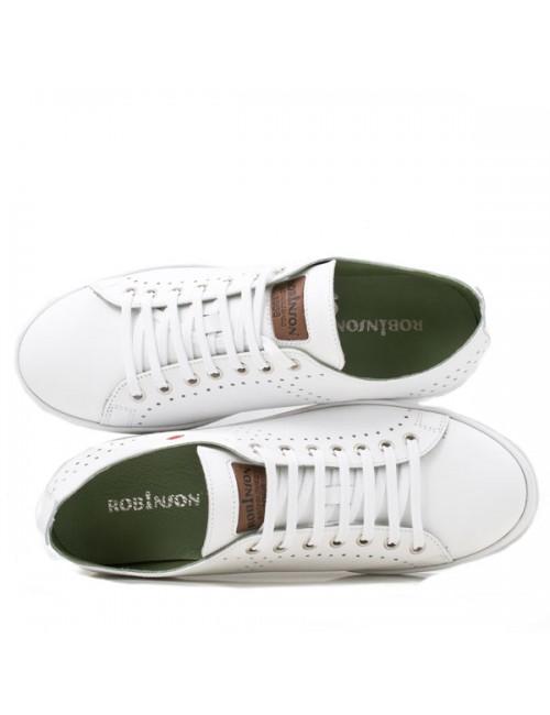 Ανδρικό sneakers δερμάτινο Robinson 1573 λευκό
