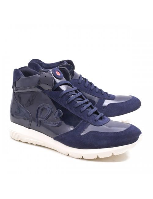 Ανδρικό sneakers Robinson 2220 δερμάτινο μπλε