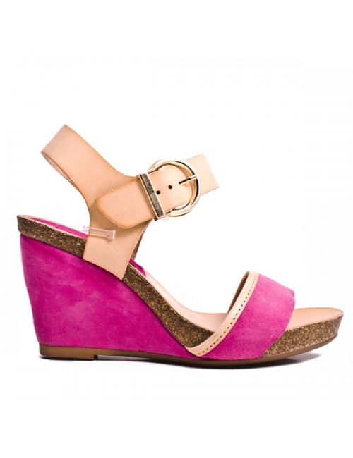 Πλατφόρμα Sergio Romero ροζ καστόρι