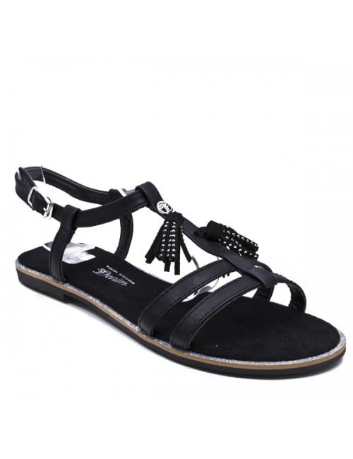 Γυναικείο σανδάλι TOM TAILOR 279590100 BLACK