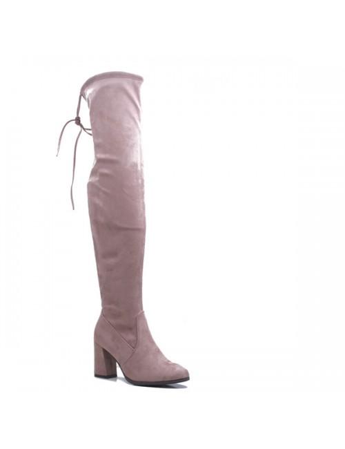 Γυναικεία μπότα BUYBRAND 01 Σουέντ Ροζ