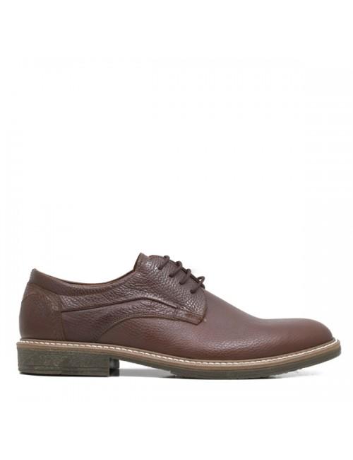 Ανδρικό παπούτσι Βuybrand B3490 Ελληνικό Δερμάτινο καφέ