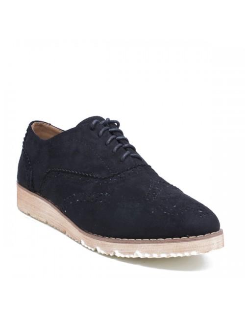 Γυναικεία παπούτσια Oxfords BUYBRAND Καστόρι Μαύρο