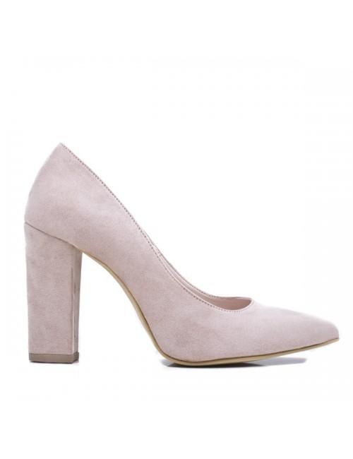 Γυναικεία Γόβα Katia Shoes 4314 Δερμάτινη Καστόρι Μπέζ Ελληνική