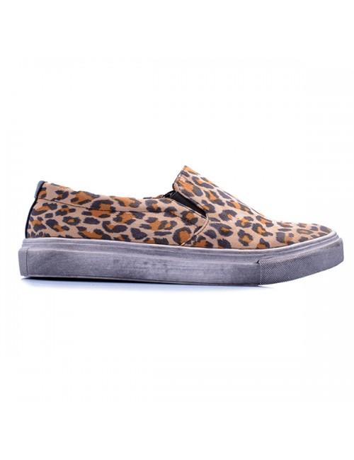 .Γυναικείο sneaker φλάτ leopard