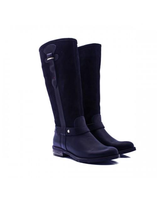 Γυναικεία μπότα Commanchero 1415 Ελληνική δερμάτινη-καστόρι μαύρη