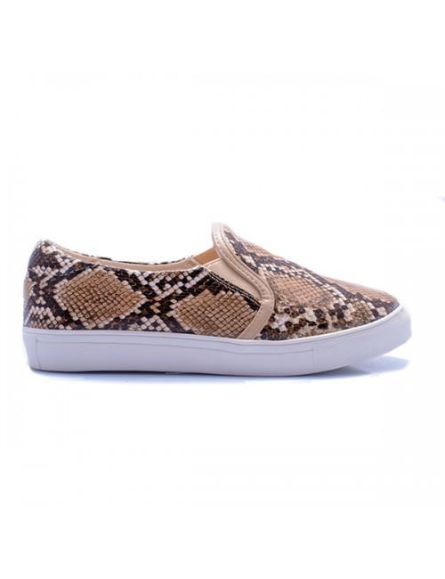 .Γυναικείο sneaker φλάτ φίδι